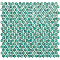 Dwell Turquoise Hexagon Gold ( )